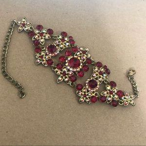 Red Bracelet Adjustable Chain Jewels Boho Trendy